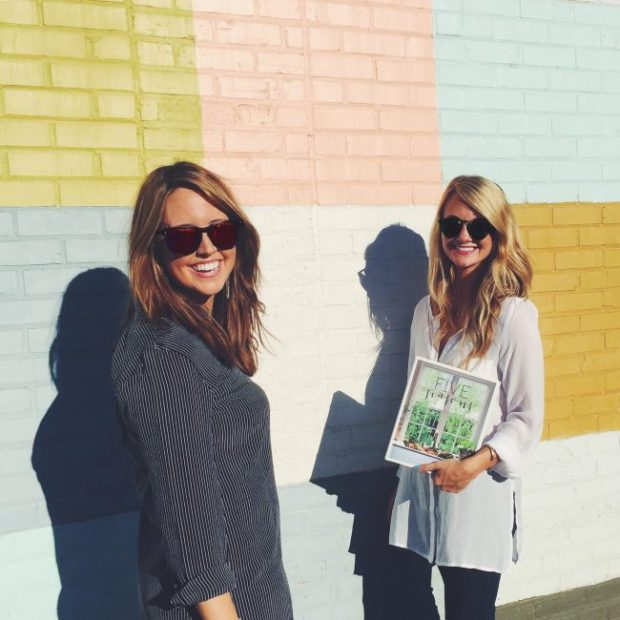 Erin with friend and co-author Lauren Beth Landry at one of their favorite spots in Baton Rouge. Photo from Five Seasons.