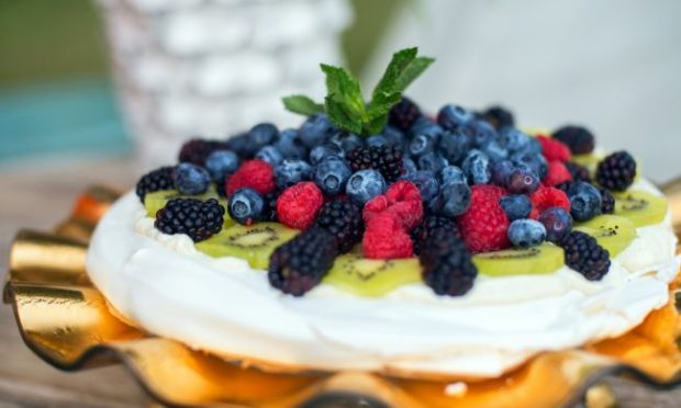 Pavlova with Lavender Whipped Cream and Fresh Berries. Photo from Five Seasons.