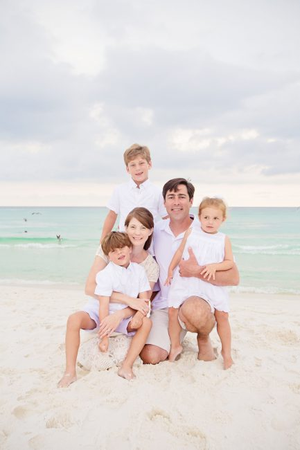 Candice and family enjoying a well-deserved beach vacation!
