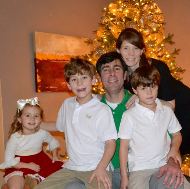 The Kidder family celebrating last Christmas.