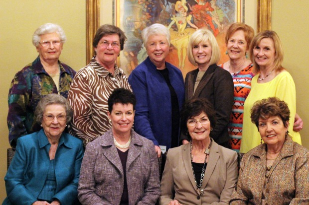 Past Chairwomen at the 2014-2015 Luncheon at Juban's.